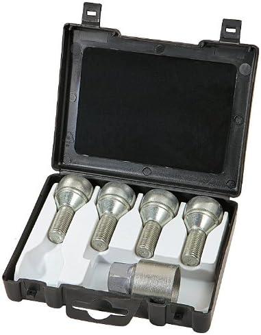 4 con 1 Chiave Farad 1-C1//E Star Lock 1CH Starlock Antifurto Ruote per Autovetture con Serraggio a Bullone