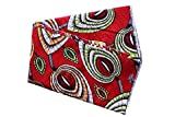 SportsX Men's 45'' African Wax Fabric 100% Cotton Premium Quality Fabric Red OS