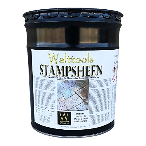 High-Gloss, Cure & Seal, Concrete Sealer (5 Gal) Stampsheen | Ultimate Wet Look for Concrete and Pavers
