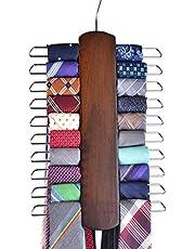 Umo Lorenzo Walnut Colour Wooden Tie Rack