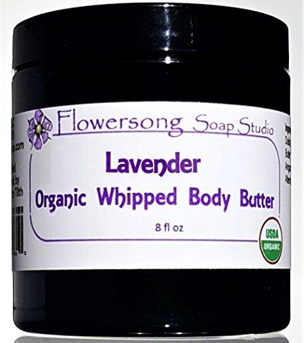 Lavender Organic Whipped Body Butter - Luxurious Triple Butter Deep Moisture Blend