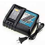 Topbatt DC18RC Replacement Battery Charger for Makita 14.4V-18V Lithium ion Battery BL1815 BL1830 BL1840 BL1850 BL1430 BL1440 BL1450
