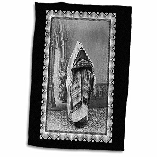 3dRose BLN Vintage Photographs of History and People 1800s - 1900s - North African in Costume c. 1880 Photographer unknown Person in Costume from Northern Africa - 15x22 Hand Towel (twl_160798_1)