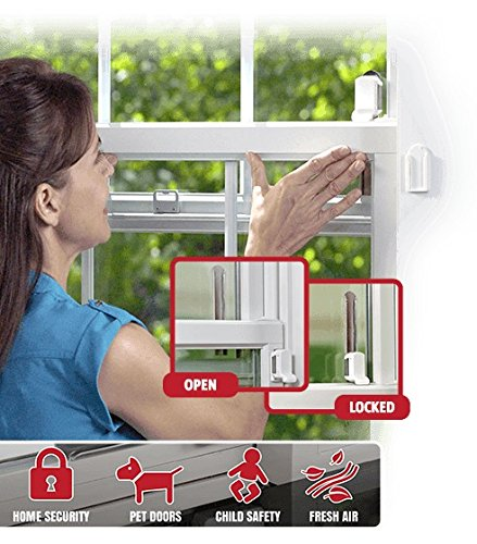 Windobully Adjustable Sliding Window & Door Lock 4 Pack