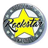 A Rockstar Employee Appreciation Award Lapel Pins, 12 Pins