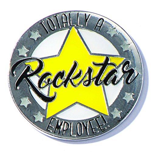 TCDesignerProducts Totally A Rockstar Employee Appreciation Award Lapel Pins, 6 -