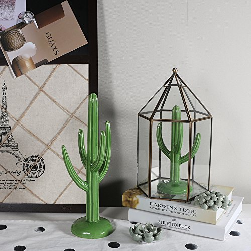 """WANYA 2 Pcs/Set 12"""" Tall Ceramic Cactus Living Room Home Decor Decoration Ring Necklace Jewelry Tower Holder"""