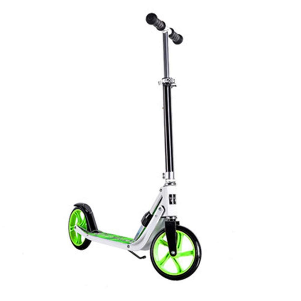 nuevo sádico Patinete Kick Scooter for niños Scooter de 2 2 2 Ruedas, Manillar Ajustable for niños y niñas de 6 a 12 años - verde - Cochega máxima 70 KG  precios ultra bajos