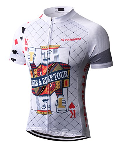 Mengliya MR Strgao Men's Cycling Jersey Bike Short Sleeve Shirt Size ()