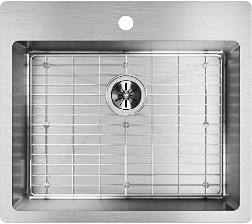Elkay ECTSR25229TBG1 Crosstown Single Bowl Dual Mount Stainless Steel Sink Kit
