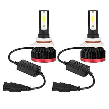 GZCRDZ - 1 par de bombillas LED para faros delanteros de coche, 100 W, 20000 lúmenes, superbrillantes, 6500 K: Amazon.es: Coche y moto