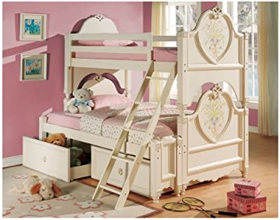 Acme 02605b 2-piece Doll House Drawers Cream Finish from ACME Furniture