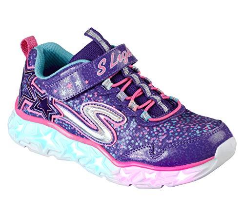 Skechers Girls' Galaxy Lights Sneaker,purple/multi,13 Medium US Little Kid