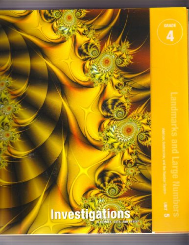 Landmarks and Large Numbers Investigations in Number, Data, and Space, Grade 4: Curriculum Unit 5 Teacher's Guide
