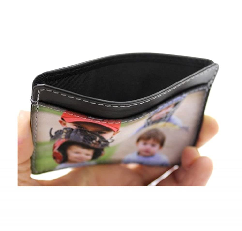 Santas w//Presents Genuine Leather Front Pocket Wallet Personalized