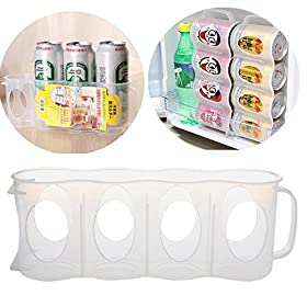 GaoCold New Beer Or Soda Can Storage Holder Kitchen Fridge Space Saver Organization Rack