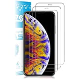 iPhone Xs Max Screen Protector, [6.5 inch] Zebre Premium Tempered Glass with 99.99% HD Clarity and 3D Touch Accuracy, Tempered Glass Screen Protector for iPhone Xs Max [3-Pack]