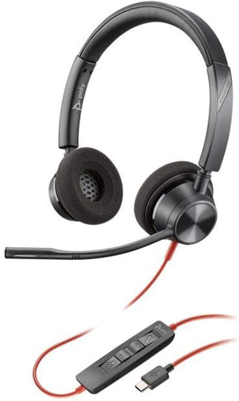 Schwarz Plantronics Stereo-Headset Blackwire C3320 mit USB-A Anschluss und flexiblem Mikrofonarm