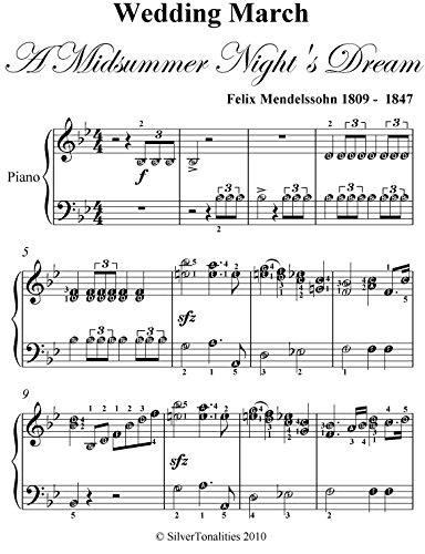 Wedding March Song.Wedding March Midsummer Night S Dream Mendelssohn Elementary Piano