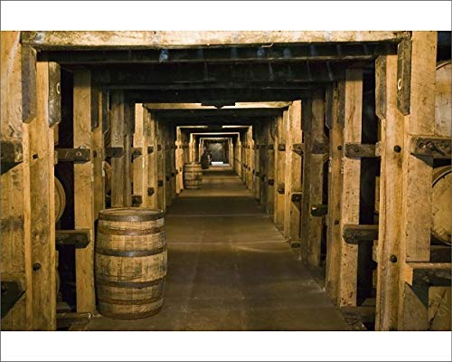 Media Storehouse 10x8 Print of USA, Kentucky, Loretto Maker s Mark Bourbon Distillery, Aging Bourbon in (8177055)