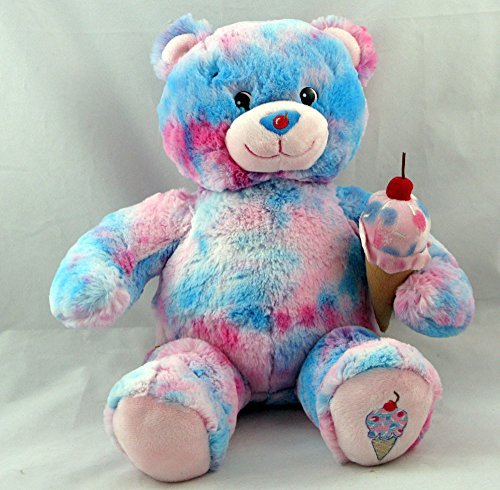 build-a-bear-plush-bubble-gum-ice-cream-teddy-baskin-robbins-pink-blue-cherry