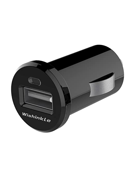 Wishinkle Cargador de Coche de 12 W, Puerto USB único con ...