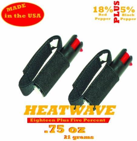 Pack of 2 Heatwave 3 4 oz Law Enforcement Pepper Spray w Jogger Sprap