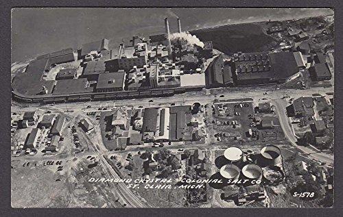 Diamond Crystal Colonial Salt Co St Clair MI RPPC postcard (Clair Diamond)