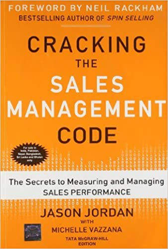 Book Cracking The Sales Management Code : The Secrets to Measuring and Managing Sales Performance by Jason Jordan (2012-08-02)