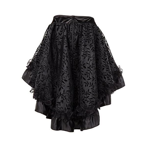 Bslingerie Womens Steampunk Vintage Medieval Dress Skirt 5