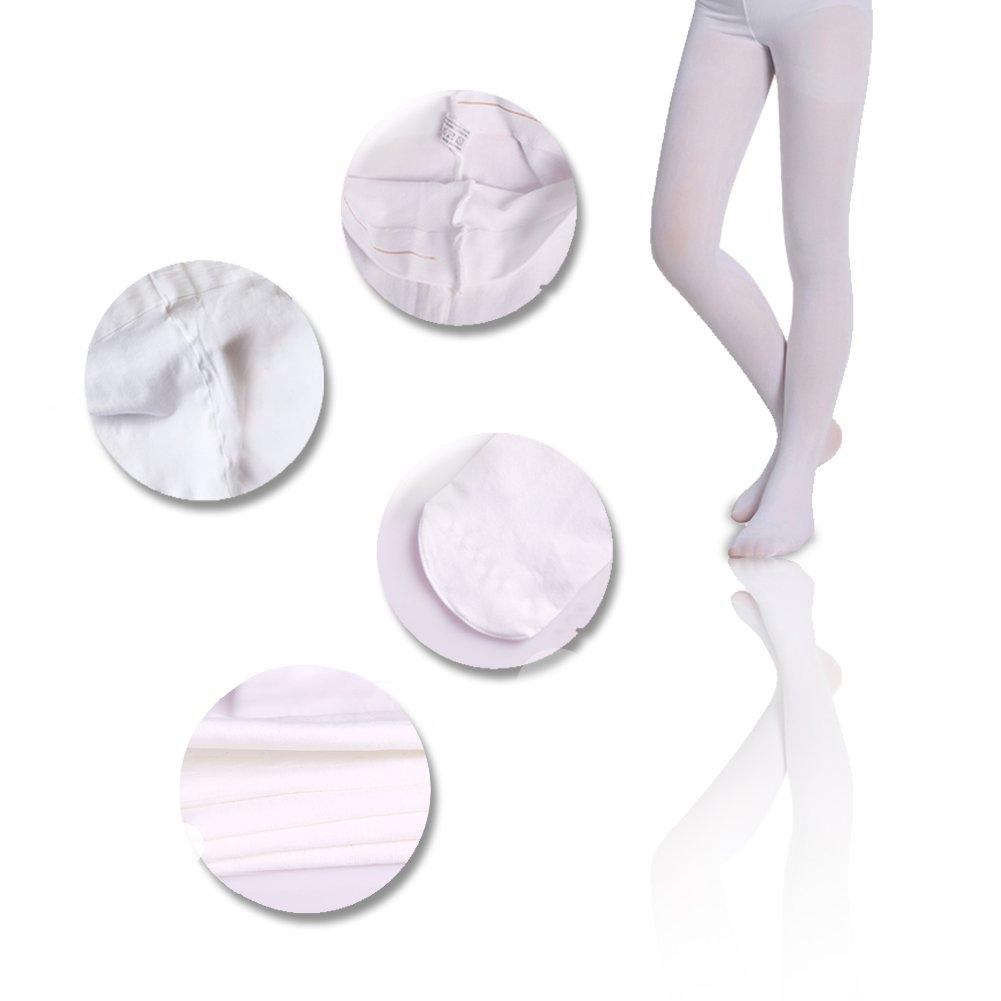 2Y-16Y SK Angel 3 Pairs Solid Color Comfortable Ballet Tights
