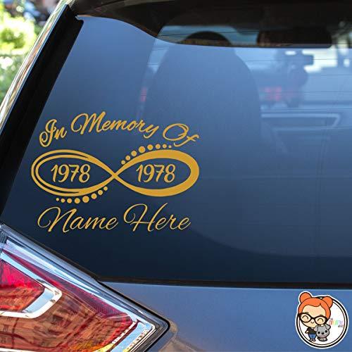 (In Memory Infinity Vinyl Die Cut Decal Sticker for Car Laptop etc.)