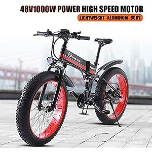 51tPJph4U2L. SS300 Drohneks Bici elettrica per Bici 26 Pollici 4.0 Batteria al Litio per Adulti Pieghevole Batteria al Litio 48 v Bici…