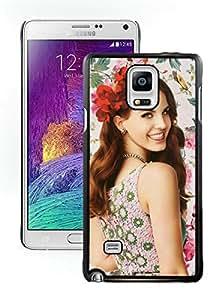 Unique And Antiskid Designed Cover Case For Samsung Galaxy Note 4 N910A N910T N910P N910V N910R4 With lana del rey 3 Black Phone Case