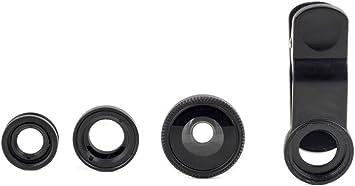 Kikkerland US110-A-EU Kit lentille Lot de 3 pour T/él/éphone Noir