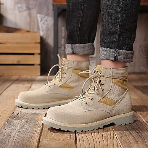 LOVDRAM Stiefel Männer Männer Männer Martin Stiefel Herren Halbstiefel Retro High-Top Schuhe Werkzeugstiefel Militärstiefel Desert Stiefel db782b