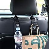 LivTee Black Car Back Seat Headrest Hooks, Car Seat