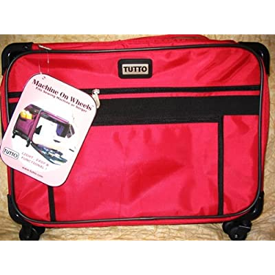 Image of Carrying Cases Medium Red Mascot Tutto Machine on Wheels Carrier Case