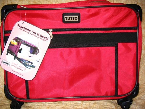 Medium Red Mascot Tutto Machine on Wheels Carrier Case by Tutto