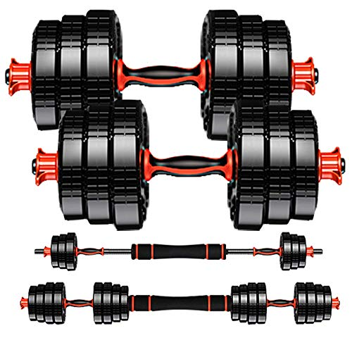 Weights Dumbbells Set Exercise Equipment-2x22lbs Adjustable Dumbbells for Weight Lifting-Elite Dumbbells Set with Soft…