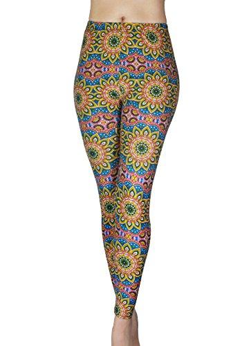 Comfy Yoga - Super Soft Printed Fashion Leggings - High Waist - Colorful Fun Prints (One Size, - 24h Sunflowers