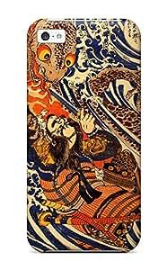 Lucila Cruz-Rodrigues's Shop Iphone 5c Case Cover - Slim Fit Tpu Protector Shock Absorbent Case (japanese Art) 9595512K35967547