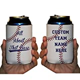 Custom Rec League Baseball Can Cooler - All About That Base Custom Baseball Team Name Can Cooler (48)