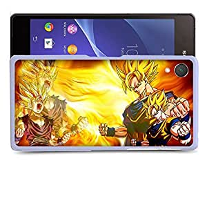 Case88 Designs Dragon Ball Z GT AF Super Saiyan Son Goku Son Gohan Protective Snap-on Hard Back Case Cover for Sony Xperia Z2