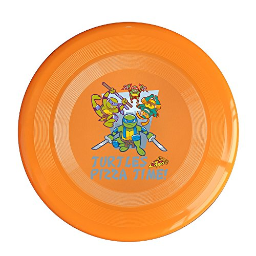 Discovery Wild Teenage Mutant Ninja Turtles Family Plastic Frisbee Flying Disc - Frisbee Like Toy For Outdoor Game Play - Sports For All Ages - Party Fun - Orange