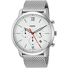 Fossil Men's 'Neutra Chrono' Quartz Stainless Steel Casual Watch, Color:Silver-Toned (Model: FS5382)