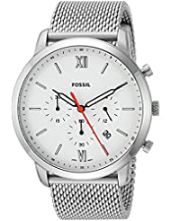 Fossil Mens Neutra Chrono Quartz Stainless Steel Casual Watch, Color Silver-Toned (Model: FS5382)