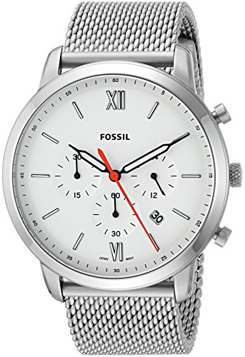 Fossil Men's Neutra Chrono Quartz Watch with Stainless-Steel Strap, Silver, 22 (Model: FS5382)