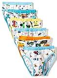 BOBO Kids Little Boys Car Briefs Underwear Toddler (Pack of 6) Size