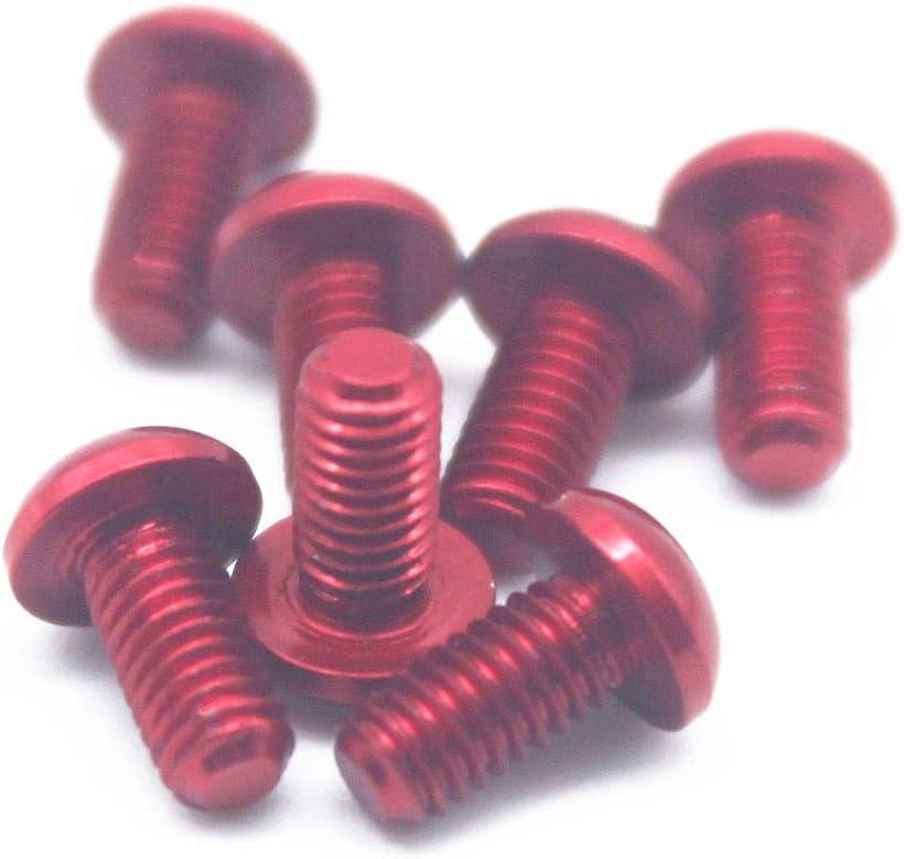 12mm, Dark Blue 20pcs M3 Allen Screws 7075 Aluminum Alloy Hex Socket Button Head Cap Screws